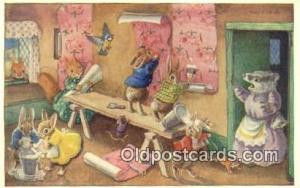 Racey Helps Post Card, Artist Signed Post Card Old Vintage Antique, PK 287  P...