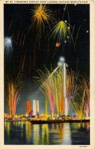IL - Chicago. 1933 World's Fair, Century of Progress. Fireworks