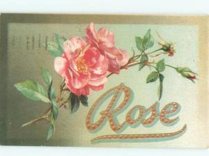 c1910 Rose THE NAME WITH THE FLOWERS AC5085