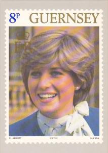 Princess Diana Royal Wedding Guernsey Post Office Stamp Card