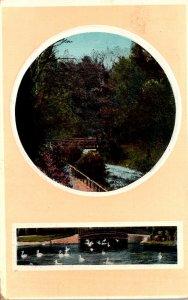 Wisconsin Milwaukee Lake Scene 1911
