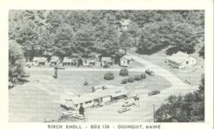Birch Knoll, Box 126, Ogunquit, Maine, unused Postcard