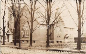 Ohio Postcard Real Photo RPPC 1909 ANDOVER Methodist Episcopal Church Building