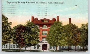 Ann Arbor Michigan~University of Michigan~Engineering Building~Students~1919