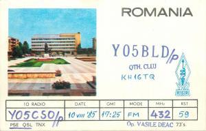Amateur Radio Station card QSL Romania YO5KAS Cluj