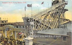 Long Beach, California, CA, USA Postcard Bamboo Slide Unused