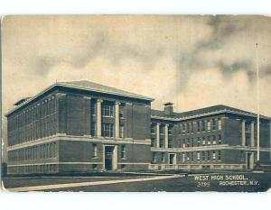 Unused Divided-Back HIGH SCHOOL Rochester New York NY k0203-12