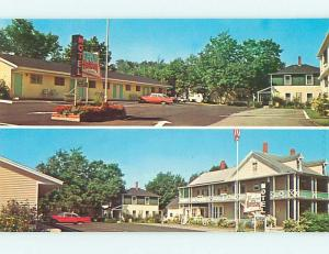 Pre-1980 OLD CARS & HIGGINS HOLIDAY MOTEL Bar Harbor Maine ME r0338