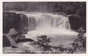 Kentucky Cumberland Falls State Park The Falls Real Photo RPPC