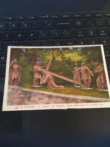 Vintage Postcard: Lourdes Le Calvalre , Jesus Tombe Pour La Premier Fois