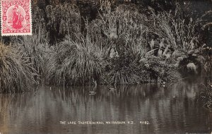 The Lake Tauherinikau Wairarapa New Zealand RPPC Real Photo postcard