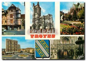 Modern Postcard Troyes (Aube) Capital of Chapagne