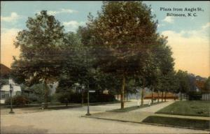 Biltmore NC Plaza From Angle St. c1910 Postcard