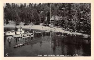 Lake Coeur D Alene Idaho Sweyolakan Real Photo Antique Postcard K98922