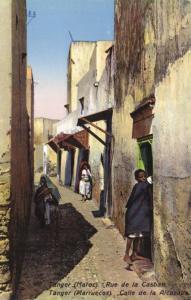 CPA Maroc - Tanger - Rue de la Casbah (92879)