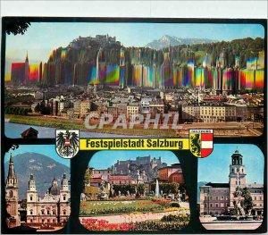 Modern Postcard The Festival City of Salzburg Austria