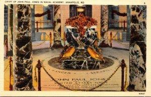 Maryland Annapolis Crypt Of John Paul Jones U S Naval Academy Curteich