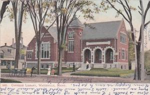 Maine Waterville Carnegie Library 1909