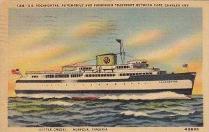 Virginia Ferry Corporation S S Pocahontas 1946