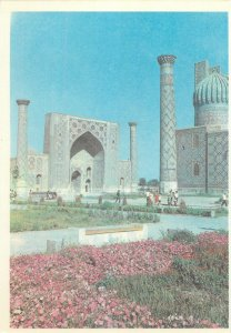 Uzbekistan Samarkand registan ulugbeg madrassah architecture Postcard