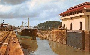 Vessel in Transit passing Panama Canal Panama Unused