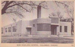 Kansas Columbus New Highland School