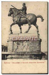 Old Postcard Padova Monumento al Generale Gattamaelata