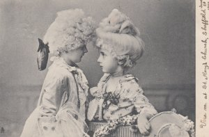 TUCK ; 2 Victorian Dressed Children #2 , 1904