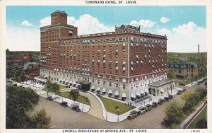 Aerial view, Coronado Hotel,  Lindell Boulevard at Spring Ave.,  St. Louis,  ...