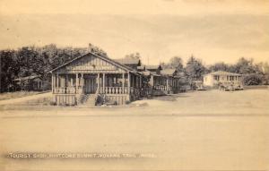 Mohawk Trail Massachusetts~Whitcomb Summit Log Structure~1940s Postcard