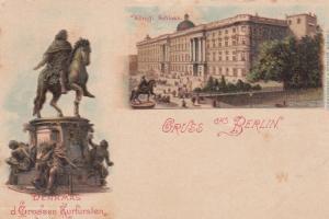 Gruss aus BERLIN , Germany , 1890s : Konigl. Schloss.