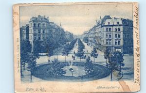 *Germany Koln a Rh Hohenstaufenring Town View Fountain Vintage Postcard C55
