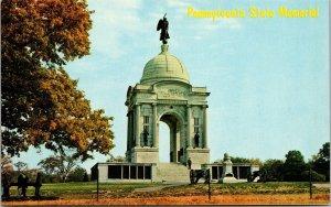 Postcard PA Pennsylvania Gettysburg State Monument Memorial Battlefield Unposted