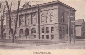 Maine Waterville City Hall 1907