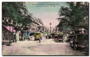 Paris Old Postcard Boulevard Montmartre