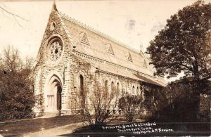 Davenport Iowa Episcopal Grace Cathedral Real Photo Antique Postcard K51994