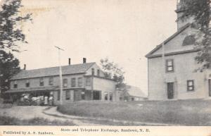 Sandown New Hampshire~Store & Telephone Exchange Building~1908 Swallow Postcard