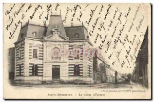 Old Postcard Bank Caisse d & # 39Epargne Sainte Menehould