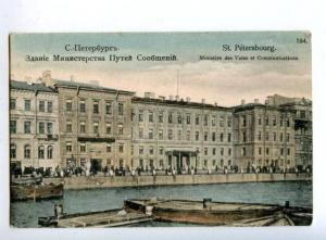 163484 Russia PETERSBURG Ministry of Railways Building OLD PC