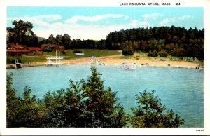 Massachusetts Athol View Of Lake Rohunta Curteich