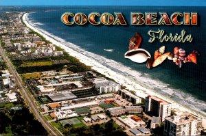 Florida Cocoa Beach Aerial View