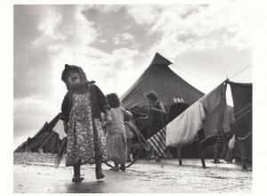 Refugee Child Shaar 1950s Aliyah Haifa Isreal Camp Photo Postcard