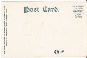 Pawtucket Road Island High School 1900-1906 Undivided Back Postcard