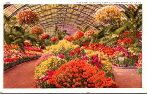Illinois Chicago Garfield Park Conservatory Interior 1940