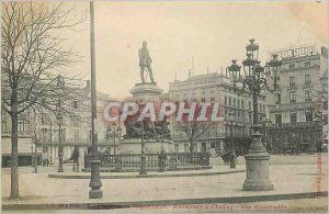 Old Postcard Le Mans instead of the republic monument Chanzy Overview