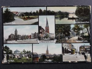 Derbyshire: Chesterfield 8 Image Multiview c1906 RP Postcard by Jackson & Son