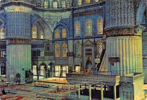 Turkey Istanbul ve Saheserleri Interior of the Blue Mosque