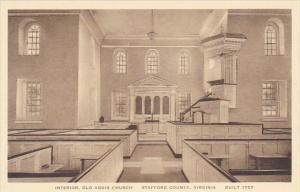 Interior Old Aquia Church Stafford County Virginia Albertype