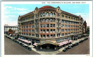SAN DIEGO, California CA ~ COMMONWEALTH BUILDING ca 1920s  Postcard