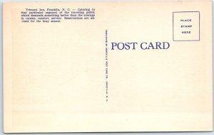Franklin, North Carolina Postcard TRIMONT INN Hotel Roadside Linen c1940s Unused